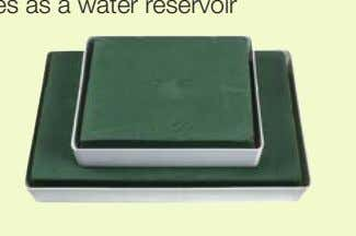 be coated Higher edge which serves as a water reservoir Available in 2 sizes: • Art.