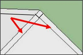 of the roof. Do this from the peek to the other side too. 7. It's important