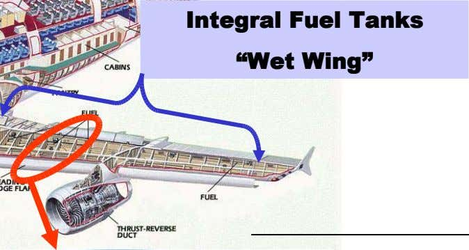 "Integral Fuel Tanks ""Wet Wing"""