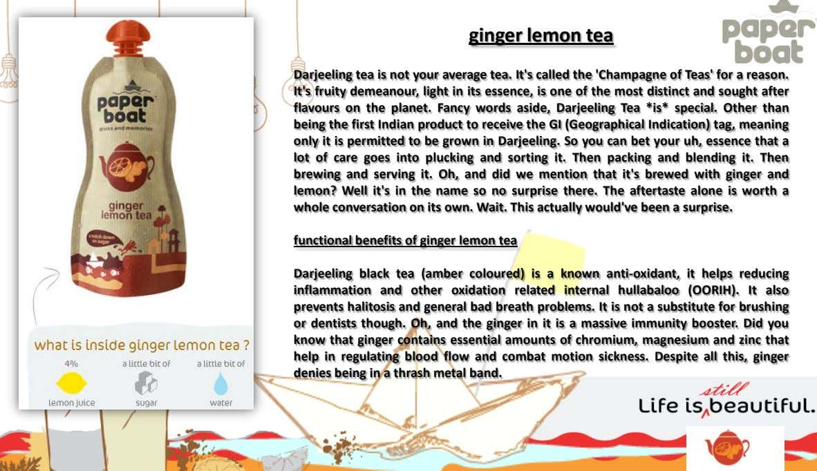 ginger lemon tea Darjeeling tea is not your average tea. It's called the 'Champagne of