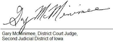 E-FILED 2013 NOV 18 9:54 AM SAC - CLERK OF DISTRICT COURT State of Iowa Courts