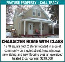 feature property - call tracy character home With class 1270 square foot 2 storey located