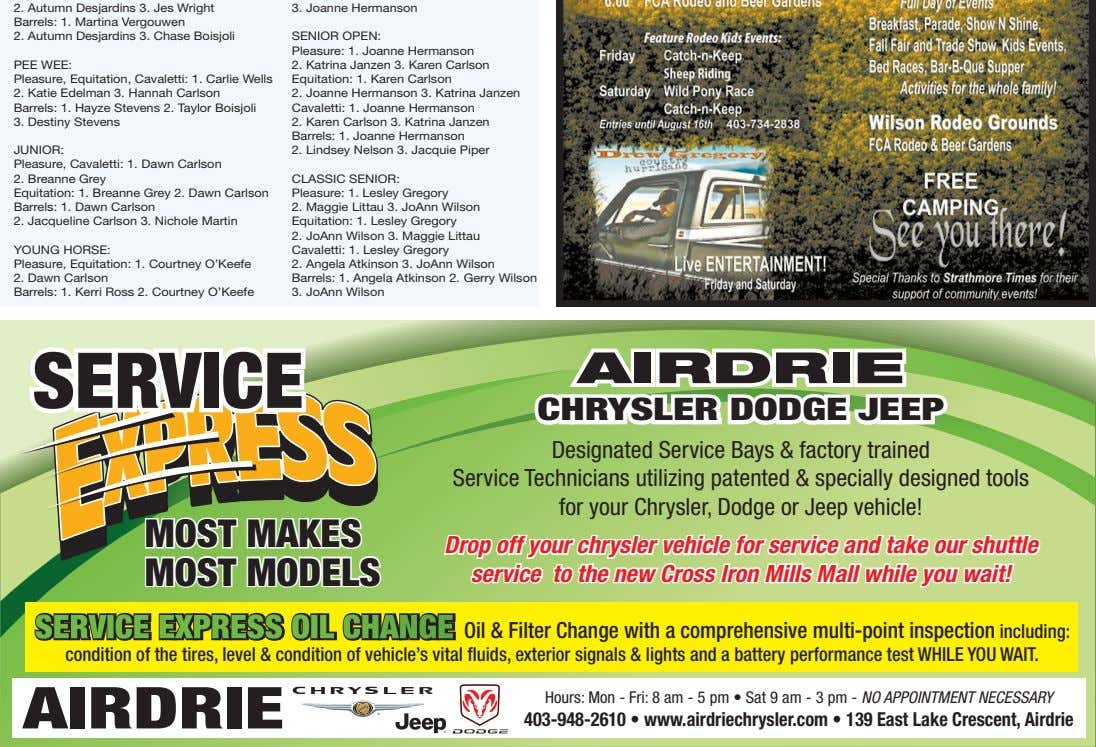 service airdrie chrysler dodge jeep Designated Service Bays & factory trained Service Technicians utilizing