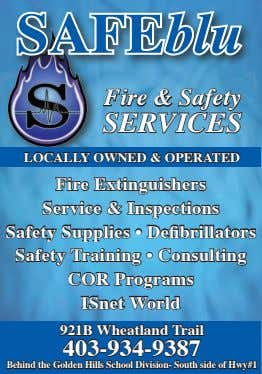 SAFEblu Fire & Safety ServiceS LocALLy ownEd & opErAtEd Fire Extinguishers Service & Inspections Safety