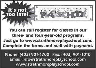 Page 16 • Strathmore TimeS • August 20, 2010 PRICE REDUCED LIMITED TIME ONLY Brand New