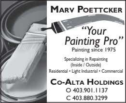 "Marv Poettcker ""Your Painting Pro"" Painting since 1975 Specializing in Repainting (Inside / Outside) Residential"