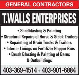 general contractors T.WallsenTerprises • sandblasting & painting • structural repairs of Horse & stock