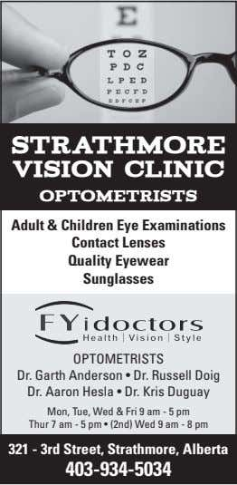 strathmore vision clinic optometrists Adult & Children Eye Examinations Contact Lenses Quality Eyewear