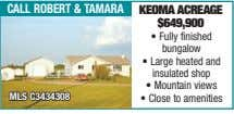 call robert & taMara Keoma aCreage $649,900 • Fully finished bungalow • Large heated and
