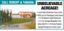 call robert & taMara UnBelievaBle aCreage! • Just Inside Strathmore Town Limits • 6000 sq