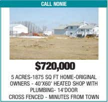 call nonie $720,000 5 ACRES-1875 SQ FT HOME-ORIGINAL OWNERS - 40'X60' HEATED SHOP WITH PLUMBING-
