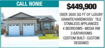 call nonie $449,900 OVER 2600 SQ FT OF LUXURY GRANITE/HARDWOOD/ TILE STAINLESS APPLIANCES 4 BEDROOMS-