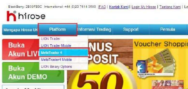 3. Klik tombol Download Meta Trader4   4. Buka Installer platform MT4 yang sudah di-download,