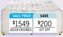 sALe PrICe sAve $ 1549 $ 200 queen enSeMble off rPP