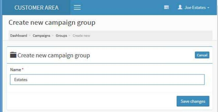 "Repeat the process creating a ""Yachts"" group. Once complete, click on the 'Groups' link again to"