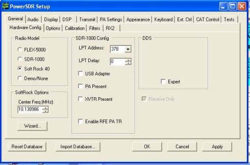 7 Operating with PowerSDR software Download PowerSDR software from: http://flex-radio.com On initial boot-up the