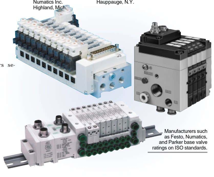 Numatics Inc. Hauppauge, N.Y. Highland, Mich. se- Manufacturers such as Festo, Numatics, and Parker base