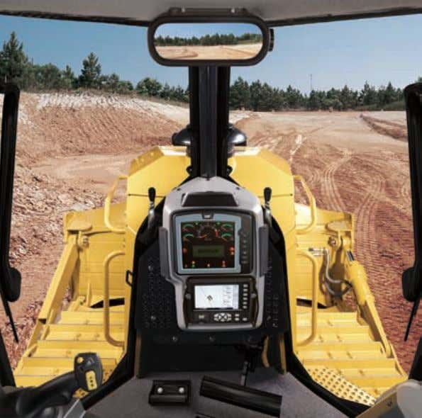 Operator Station Unprecedented all-around visibility and comfort. The all new D7E cab is designed to