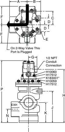A B F C D D F E On 2-Way Valve This Port Is Plugged