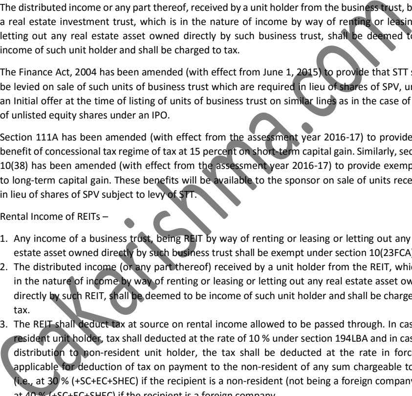 a income of such unit holder and shall be charged to tax. in lieu of