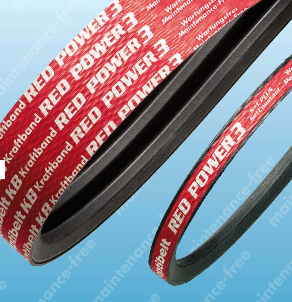 Products & Applications RED POWER 3 Wedge Belts & Kraftbands maintenance-free Drive solutions with Optibelt