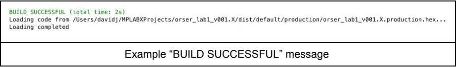 "Example ""BUILD SUCCESSFUL"" message"
