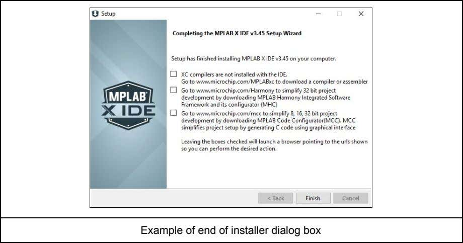 Example of end of installer dialog box