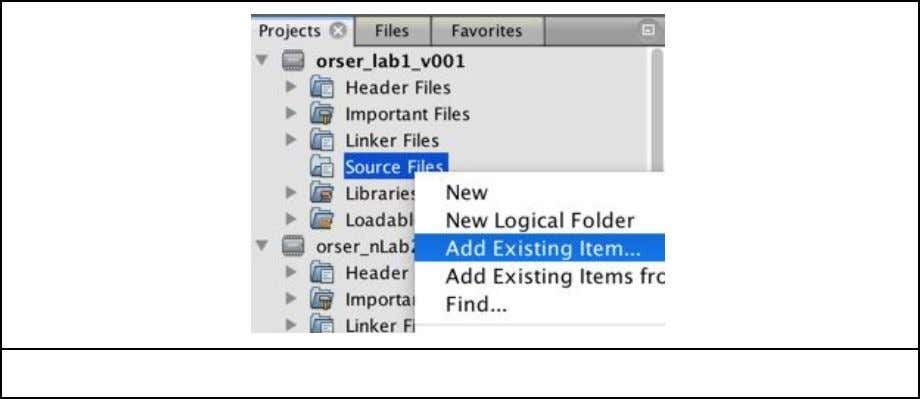 "your project title and selecting ""Add Existing Item…"") 5.) The default directory should be the current"