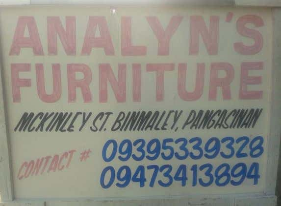 University of Luzon College of Business Administration Dagupan City __________________________________________________________________________ Products of Analyn's Furnitures Page 9