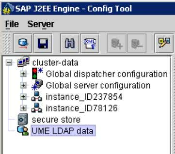 Active Directory or LDAP with UME of SAP Enterprise Portal • In the LDAP configuration tool