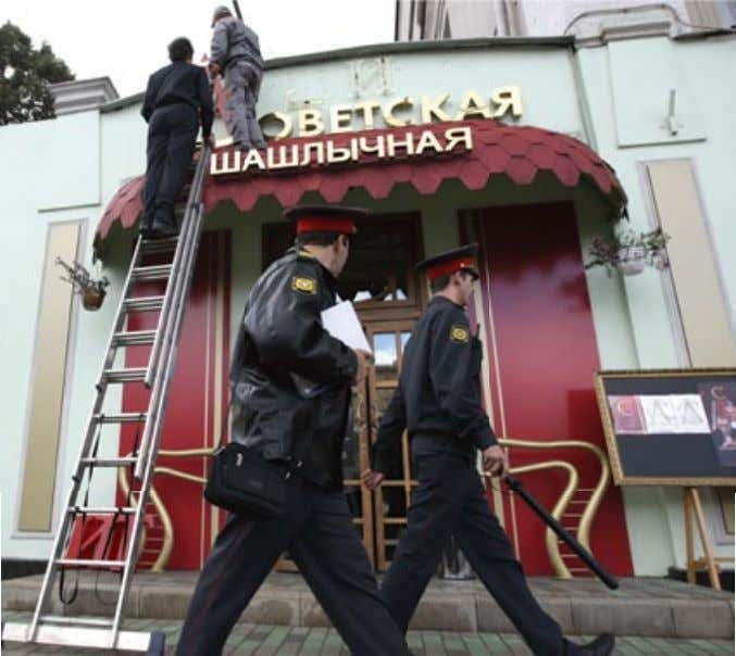 "working in Moscow. Why can't we Russians do the same? The owners of the ""Antisoviet"" kebab"