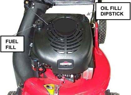 OIL FILL/ DIPSTICK FUEL FILL