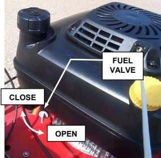 FUEL VALVE CLOSE OPEN