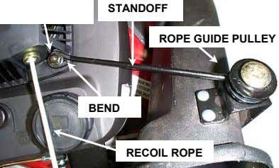 STANDOFF ROPE GUIDE PULLEY BEND RECOIL ROPE