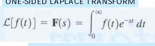 ONE-SIDED LAPLACE TRANSFORM s    j  It will be necessary to consider t