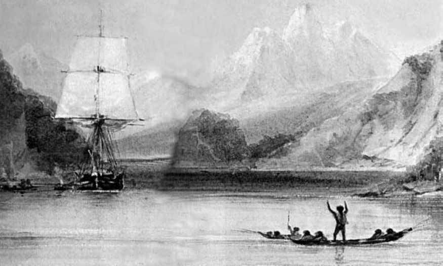 "Origin of Species HMS Beagle by Conrad Martens God as a ""revengeful tyrant."" What was it"