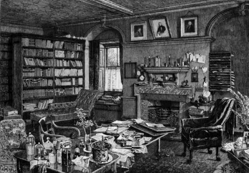 Origin of Species Charles Darwin's study room. evolved from the other naturally, without a maker. They