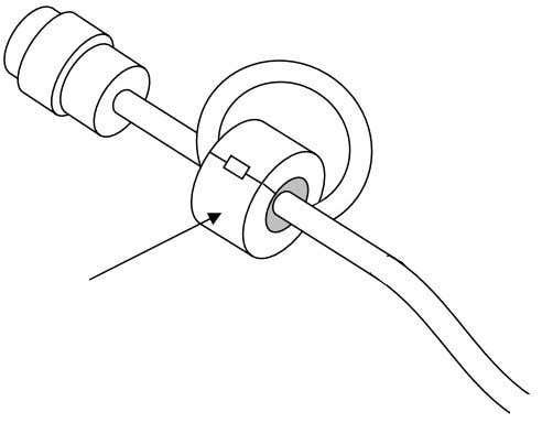 Noise Filtering Make a loop with the cable and clamp it with the included Clamp Filter