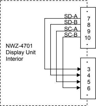 ・ SD-A 7 SD-B 8 SC-A 9 SC-B 10 ・ NWZ-4701 Display Unit Interior ・