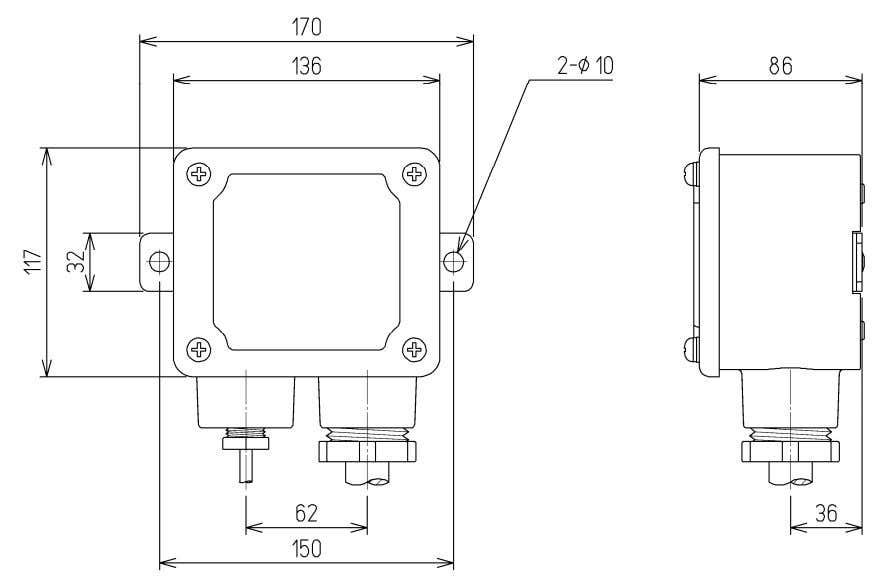 Shield Junction box NQE-7720(Option) (Installation metal fittings MPBP31612 are not included. ) Externals chart 2-23