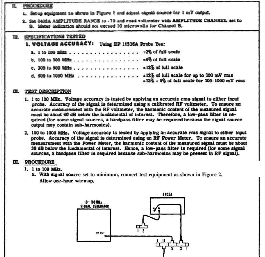ce set to minimum, connect test equipment as shown in Figure 2.