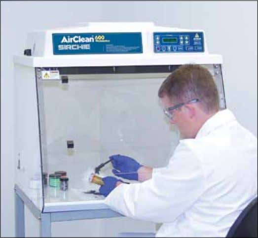 Forensic Containment Forensic Workstations The AC600 Series Workstations meet and exceed applicable OSHA and ANSI