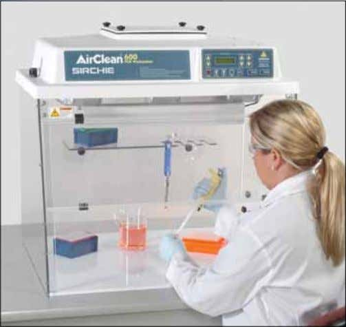 Forensic Containment AC632LFUVC shown above with pipettor holder and shelf installed. feAtureS: • UVTect™