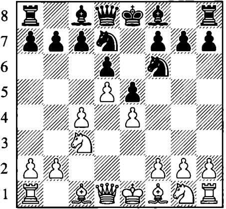 e5 5.d5 White secures a space advantage and arranges his pieces in a similar fashion as