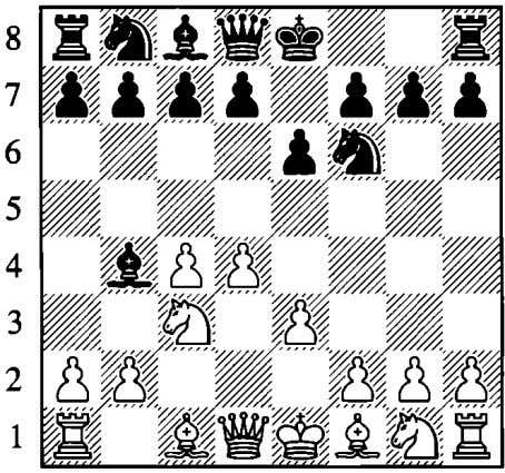 Various 4th Moves I.d4 liJf6 2.c4 e6 3.liJ c3 ih4 4.e3 a b c d e