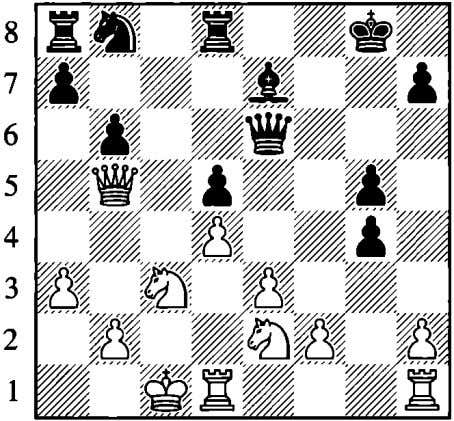 is weak and Black's kingside is loose as well. �e6 a b c d e f