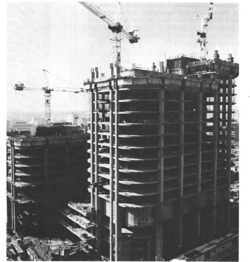 unduly restrict their planning. Fig. 1 .ll - Winter Construction of Western Canadian Place, Calgary, Alberta,