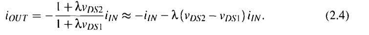 and only unmatched parameters, the output current equals Although this equation is an approximation, the distortion
