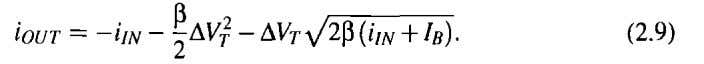 the is the only nonideality, then the output current equals From this equation, it can be