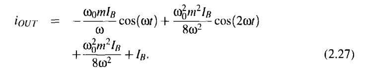 different harmonic components, one arrives at and collect- The equation shows that there is ideally exclusively